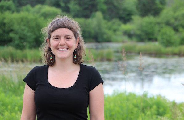 Mhari Lamarque, Dalhousie MREM candidate, working for DUC at the Greenwing Centre at Shubenacadie, NS.